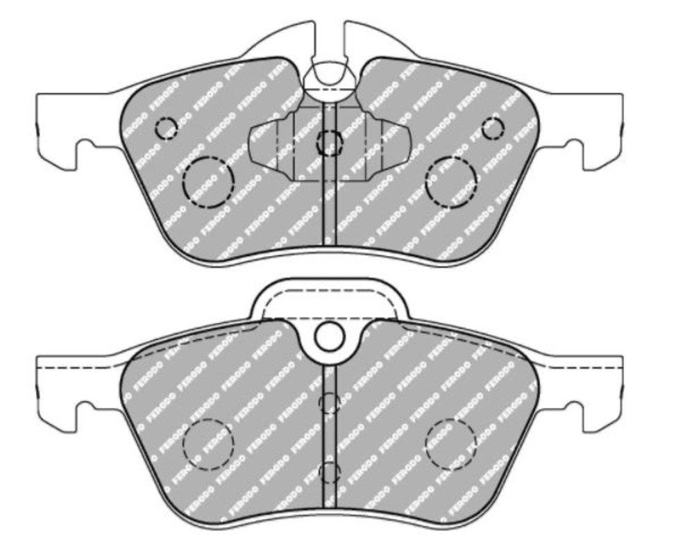 Mini Cooper S Works Cooper S Works Ferodo Ds2500 Front Brake Pads
