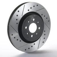 Mazda 6 2.0 16v Drilled Grooved Brake Discs Front 2002